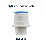 Anschlussnippel Osmose Quick & Easy 3/8 Zoll Schlauch x 1/4 Zoll AG