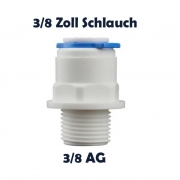 Anschlussnippel Osmose Quick & Easy 3/8 Zoll Schlauch x 3/8 Zoll AG