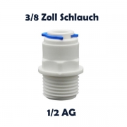Anschlussnippel Osmose Quick & Easy 3/8 Zoll Schlauch x 1/2 Zoll AG