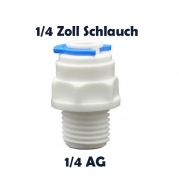 Anschlussnippel Osmose Quick & Easy 1/4 Zoll Schlauch x 1/4 Zoll AG
