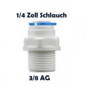 Anschlussnippel Osmose Quick & Easy 1/4 Zoll Schlauch x 3/8 Zoll AG