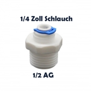 Anschlussnippel Osmose Quick & Easy 1/4 Zoll Schlauch x 1/2 Zoll AG